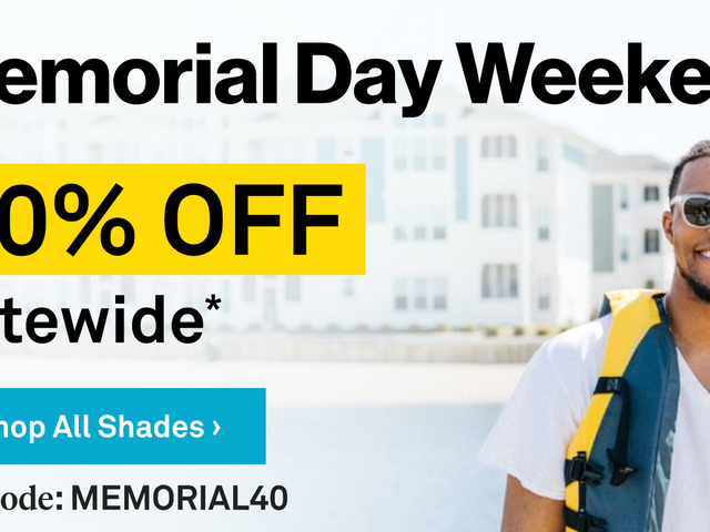Throw Some Shade With 40% Off Sitewide at Sunglass Warehouse