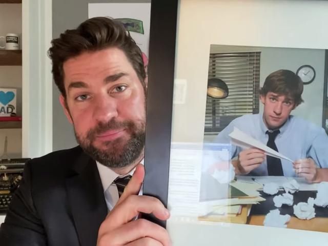 Watch John Krasinski and Steve Carell reminisce about The Office in quarantine