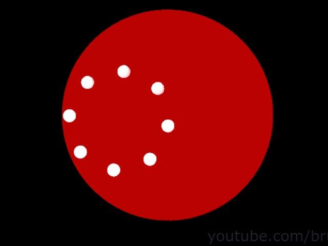 Los círculos de esta ilusión óptica no giran, se mueven en línea recta
