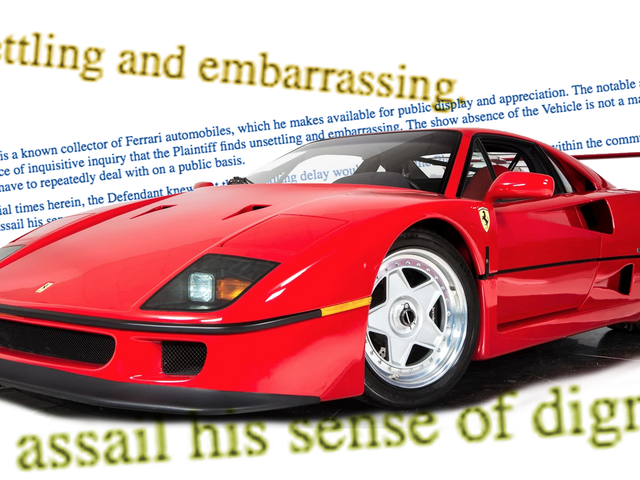 Doctor Who Wrecked Ferrari F40 Demands $758,000 Payout Because He's 'Embarrassed'