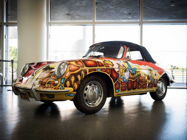 Janis Joplin's iconic, one-of-a-kind Porsche sold for WAY more than auctioneers expected