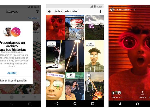 La nueva versión de Instagram guardará las historyias de forma automática y permirá compartirlas de deuevo