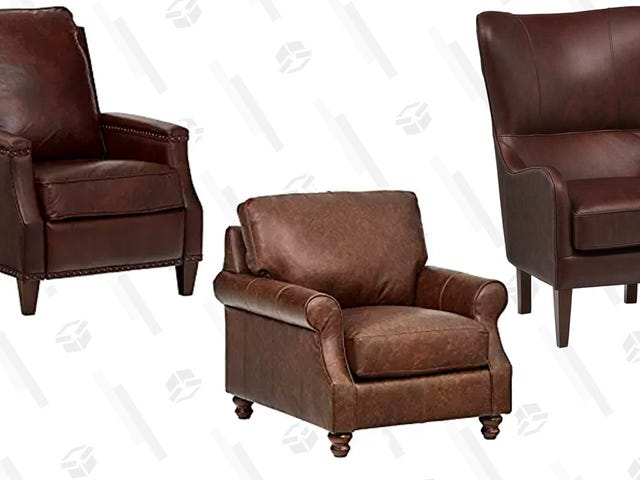 Gift Yourself An Oversized Leather Chair For 10% Off Today