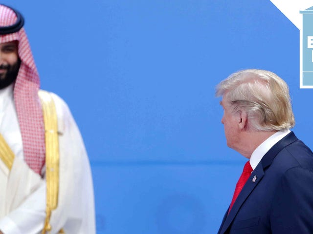 Η Σαουδική κυβέρνηση Σίγουρα αγαπά να ξοδεύει χρήματα σε Ξενοδοχεία Trump για κανέναν πραγματικό λόγο Δεν στοιχηματίζω