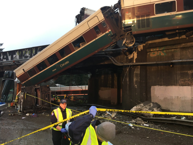 Amtrak Train Derailment Onto Highway In Tacoma Leads To Six Dead And Dozens Injured (UPDATED)