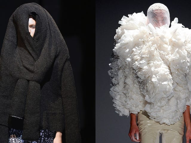 Fashion Would You Rather: Hulking Sweater Monster vs. Elegant Loofa