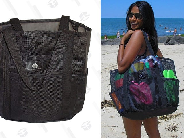 Head Out To The Beach With This Discounted Mesh Tote Bag