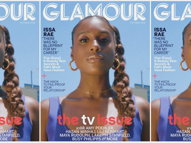 Film Noir: Issa Rae Gets Dramatic for Glamour's October Issue—and Claps Back at Melania's Camp