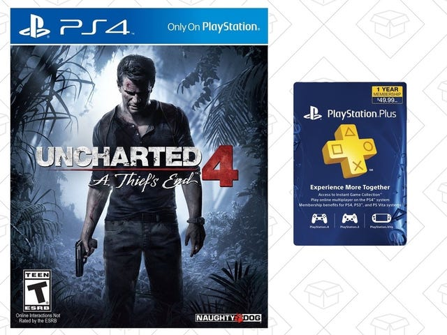 Grab a Copy of Uncharted 4 and a Year of PlayStation Plus For $79