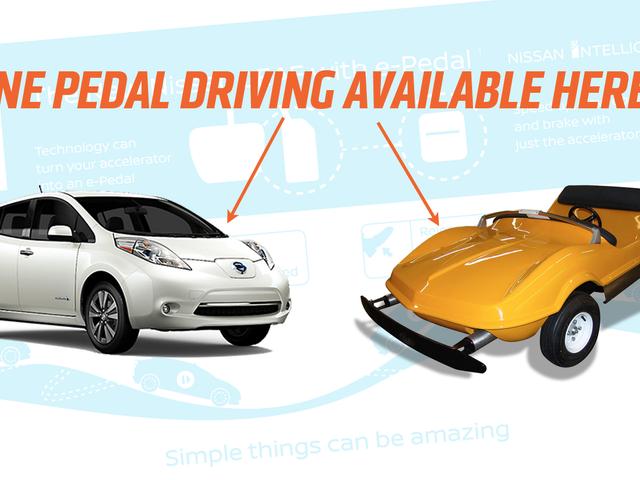 Nissan presenterer single pedal kjøring som i en fornøyelsespark bil