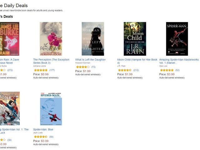 Dagens Amazon Kindle Deals omfatter 3 Spider-Man Collections (US)