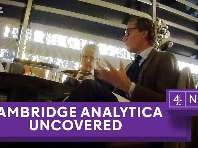 BUSTED: Le Cambridge Analytica Show Cambridge Analytica ne voulait pas que vous le voyiez, et le Mess Facebook a fait en essayant de cacher leur R'ship