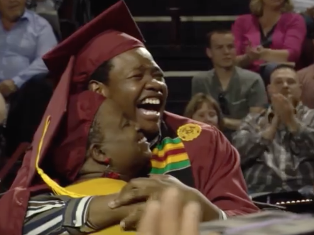 Mom of the Year Gets a Surprise When She Skips Her Own Graduation to Attend Her Son's