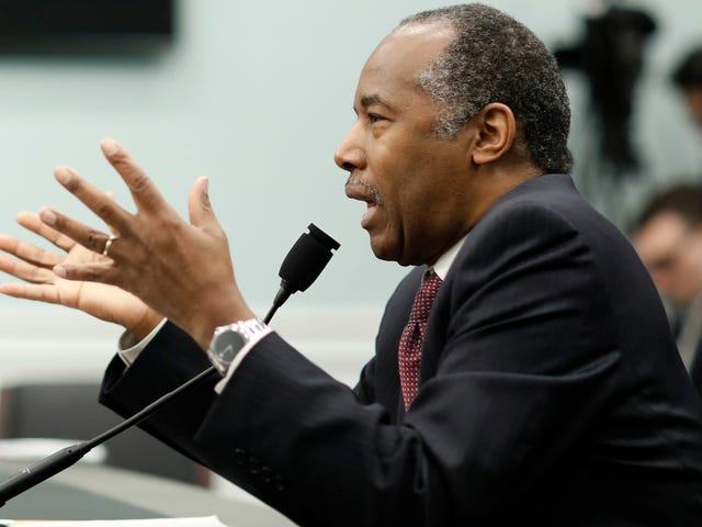 Ben Carson Would Like You to Know That the Table Thing Was His Wife's Fault