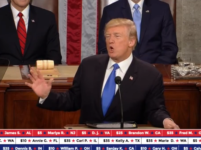 Trump's State Of The Union Donation Stunt Feels Straight Out Of Twitch
