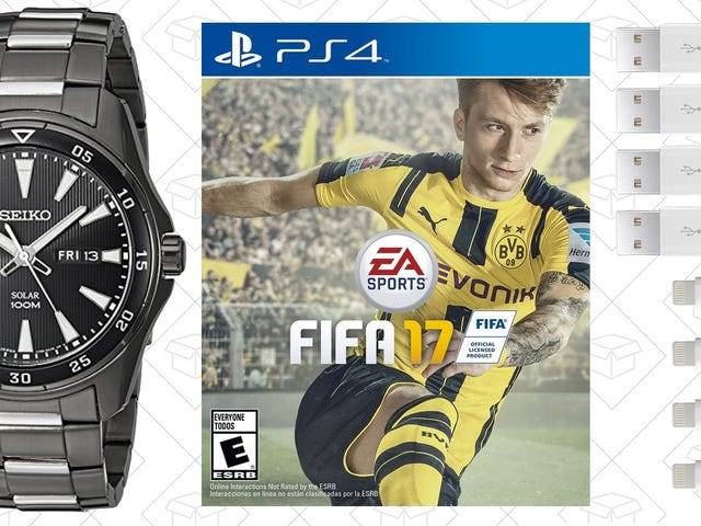 """<a href=""""https://kinjadeals.theinventory.com/todays-best-deals-fifa-17-seiko-watches-sling-tv-li-1787793009"""" data-id="""""""" onClick=""""window.ga('send', 'event', 'Permalink page click', 'Permalink page click - post header', 'standard');"""">Today's Best Deals: FIFA 17, Seiko Watches, Sling TV, Lightning Cables</a>"""