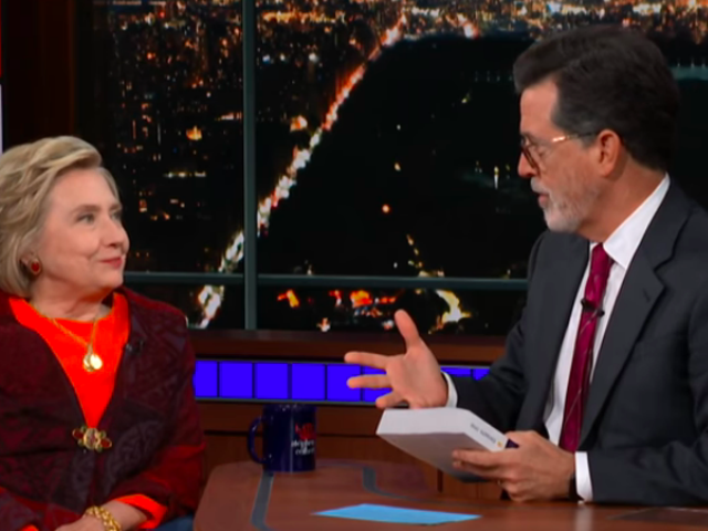 "On <i>The Late Show</i>, Hillary Clinton won't say ""I told you so"" despite being right about everything"