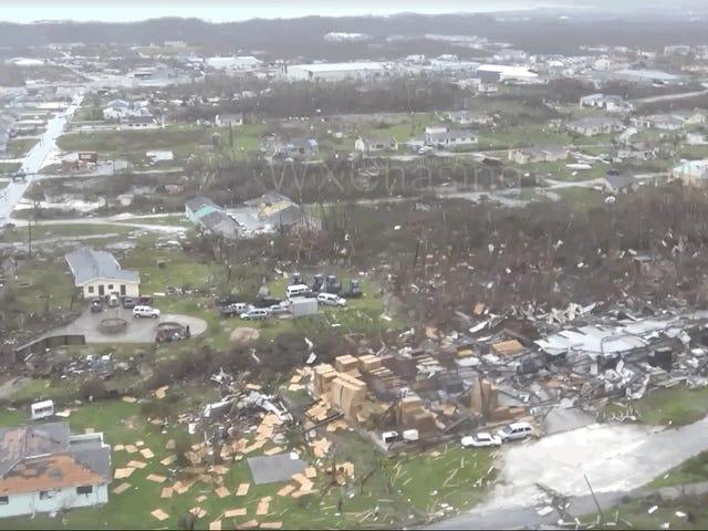 La terrorífica destrucción tras el paso del huracán Dorian por las Bahamas, en vídeo