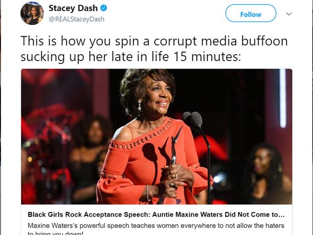 Querida Stacey Dash: Ve a sentar tu trasero en algún lugar <em></em>