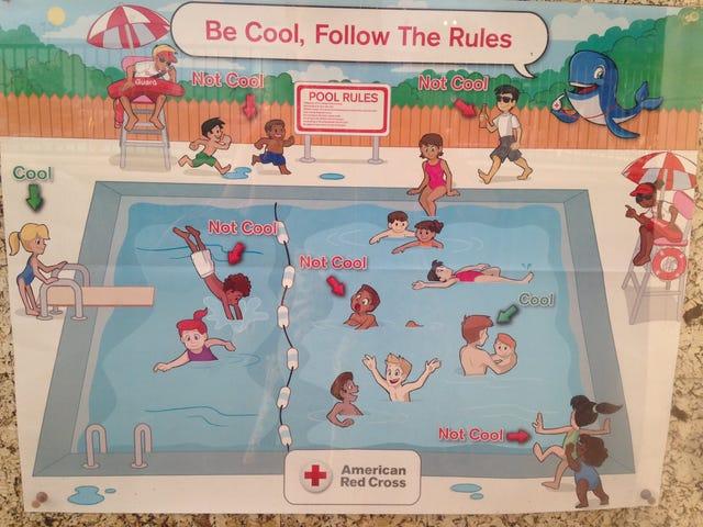 """红十字会在""""超级种族主义""""游泳池安全海报后道歉"""