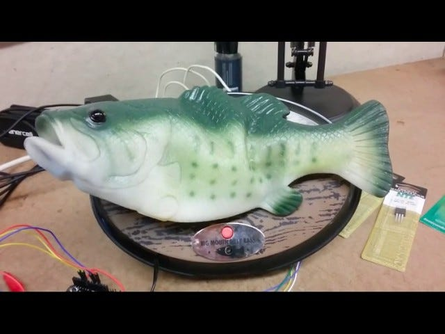 Good Lord, Someone Hacked Their Alexa to Speak Via Big Mouth Billy Bass
