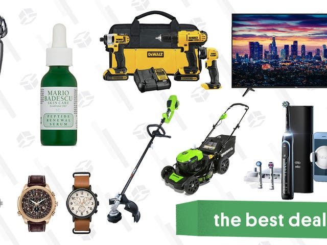 Monday's Best Deals: Greenworks Lawn Care Tools, OXO Coffee Grinder, Oral-B Toothbrushes, and More
