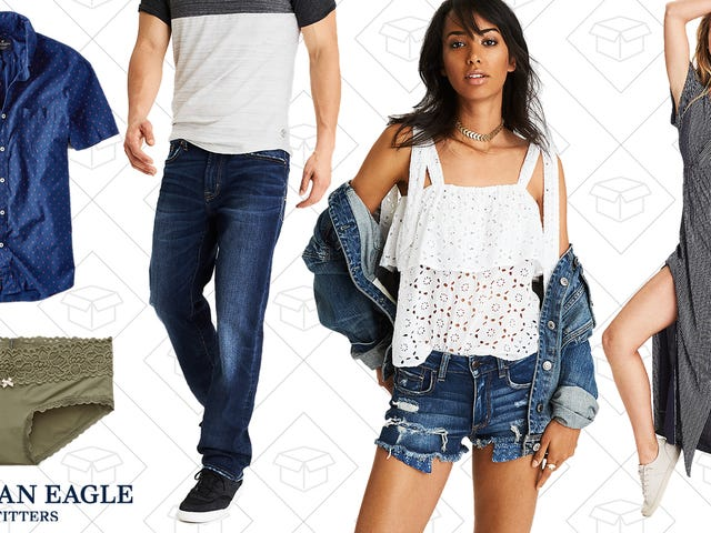 Take 25% Off Everything American Eagle, Including Clearance Styles, and 10-for-$30 Undies