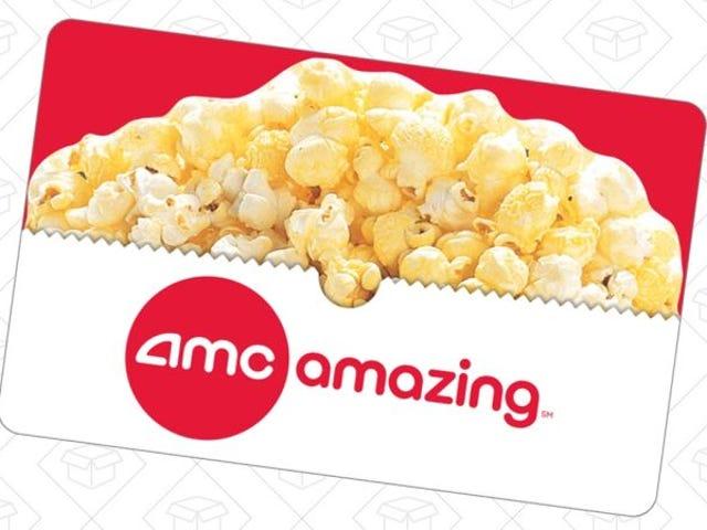 Giv gave til en filmnat med dette rabatede AMC Theatres gavekort
