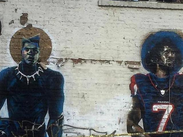 Hari Sebelum Super Bowl, Colin Kaepernick Mural di Atlanta telah Hancur