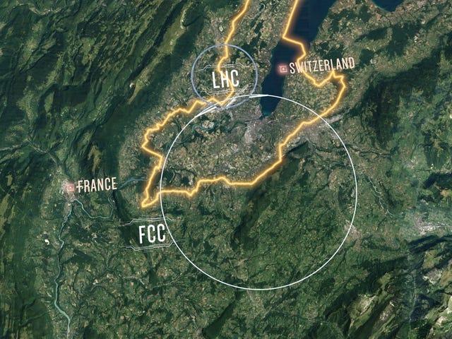 CERN, 대형 Hadron Collider보다 더 강력한 62 마일 라운드 원자 Smasher 설계 공개