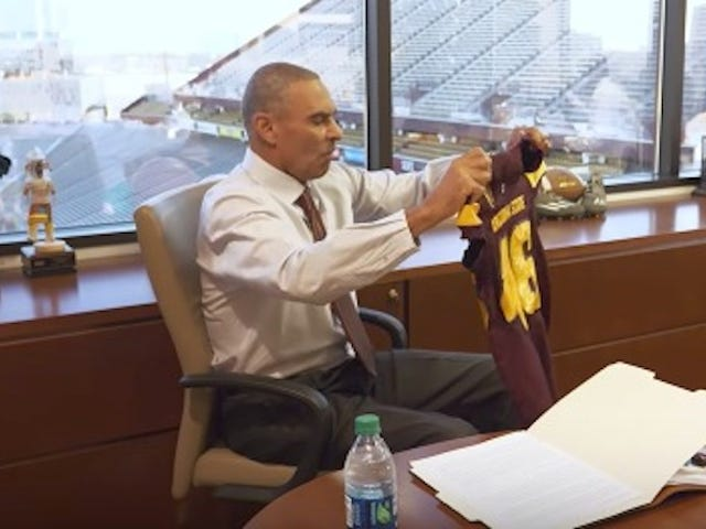 Herm Edwards Flabbergasted By Small Football Jersey