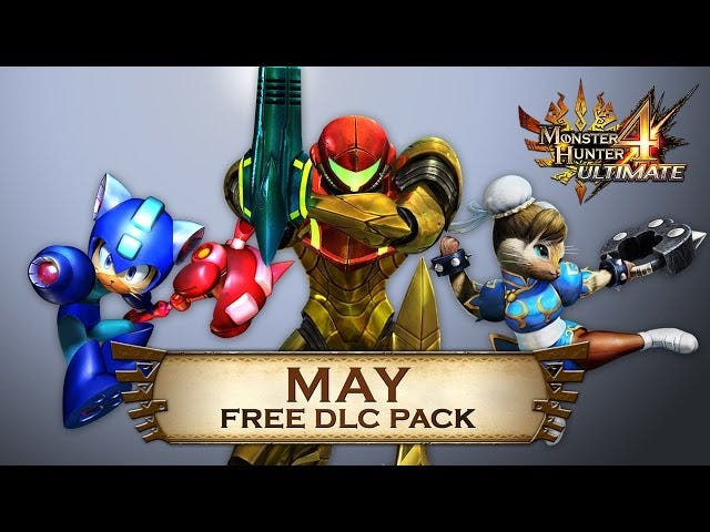 Free <i>Monster Hunter</i> DLC Has <i>Street Fighter, Metroid, Mega Man</i>