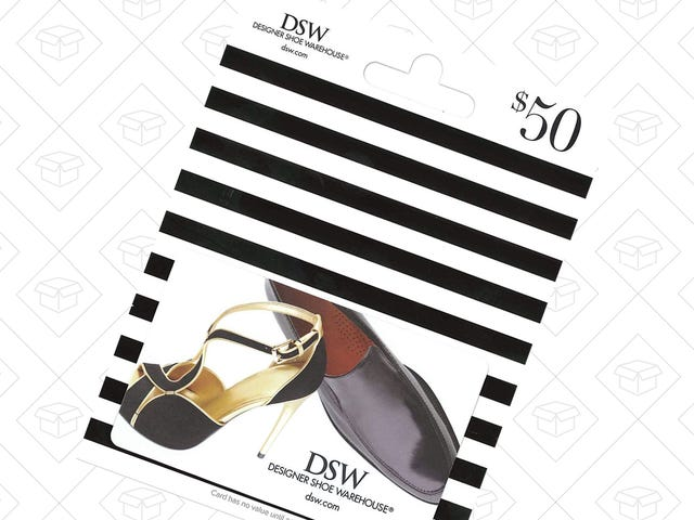Pick Up a DSW Gift Card Worth $50 or More and Save $10