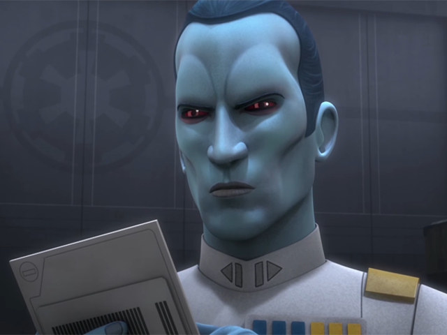 Guarda il Grand Admiral Thrawn Be a Jerk Total In This Star Wars Rebels Clip
