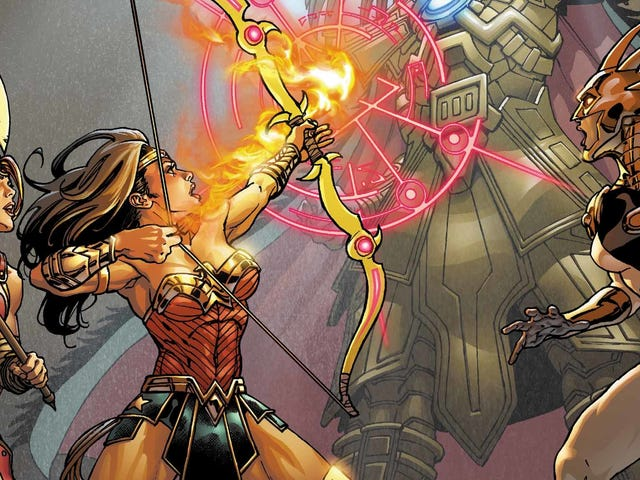 Wonder Womanand friends take on an Aztec god in this exclusive preview