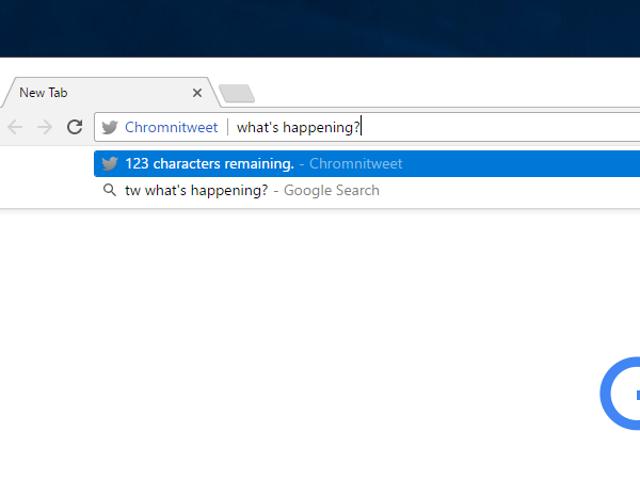 Chromnitweet Lets You Tweet From Chrome's Address Bar
