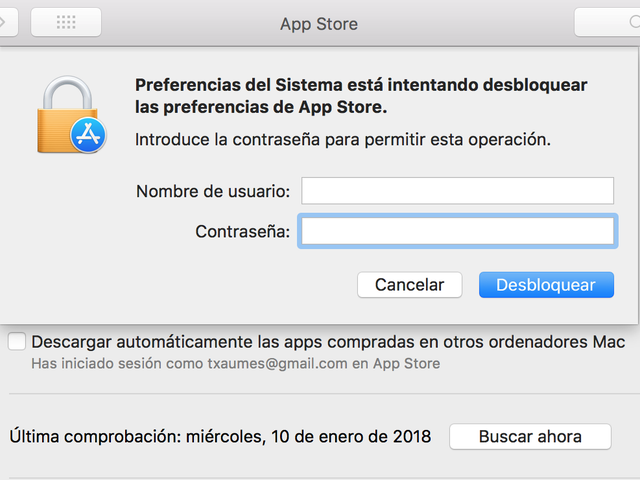 Ne manquez pas de Mac OS Haute autorisation, cliquez sur les préférences de l'App Store avec d'autres options