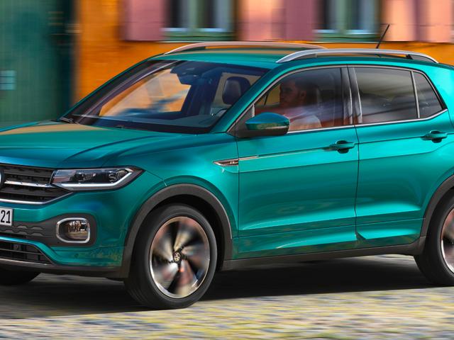 Tämä pieni vihreä asia on 2019 Volkswagen T-Cross, mutta älä huijata sen herkkyydestä