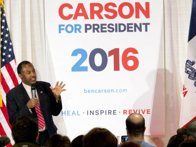 Ben Carson's Campaign Gently Death Rattles as He Runs Home For Clean Clothes