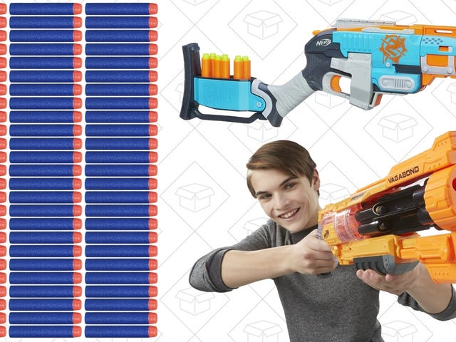 Oh Hell Yeah, A Bunch of NERF Guns and Dart Packs Are Cheaper Than Ever