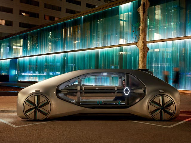 Renault Wants To Have This Striking All-Electric Autonomous Car On The Road By 2022