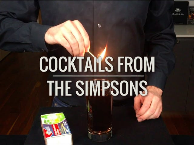 "Learn How to Make a ""Flaming Homer"" and Other Drinks From The Simpsons"