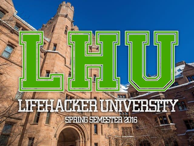 Planlegg gratis utdanning på Lifehacker U: Vårt semester 2016