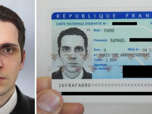 Ένας Γάλλος καλλιτέχνης λέει ότι έλαβε μια εθνική ταυτότητα χρησιμοποιώντας μια Headshot που δημιουργήθηκε από τον υπολογιστή