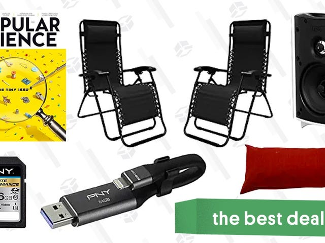 Saturday's Best Deals: MicroSD Cards, Speaker Sale, Patio Furniture, and More