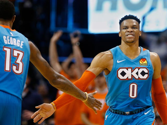 Thunder virkelig nød deres Flukey Shooting Night Against The Blazers