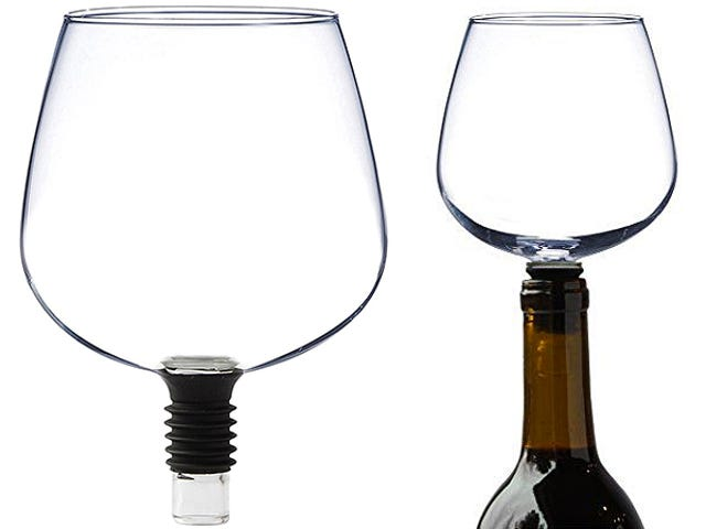 Guzzle Buddy Turns Wine Bottles Into Wine Glasses So You Can Sip Without Shame