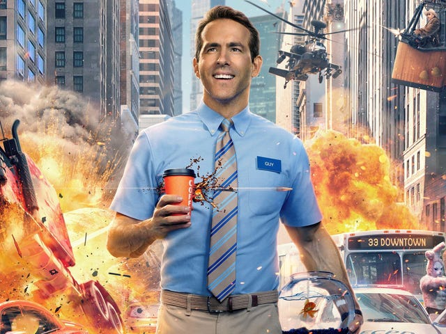 In Free Guy's First Trailer, Ryan Reynolds is the Only Dude for the Job