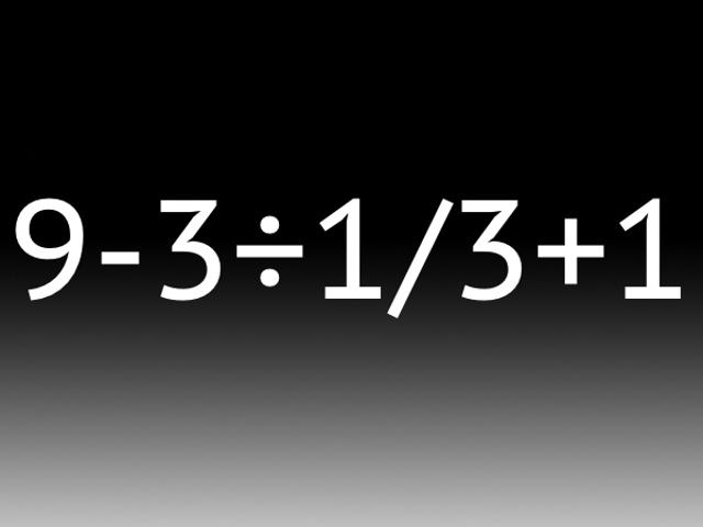 ¿Puedes resolver este problema aritmético? La calculadora no