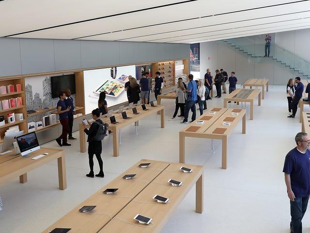 Robbing một cửa hàng Apple trông chính xác như dễ dàng như bạn mong đợi